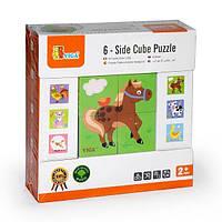 "Пазл-кубики Viga Toys ""Ферма"" (50835), фото 1"
