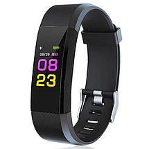 Фитнес-браслет Smart Band id115 Plus с цветным 0,96 дюймовым экраном (Черный), фото 2