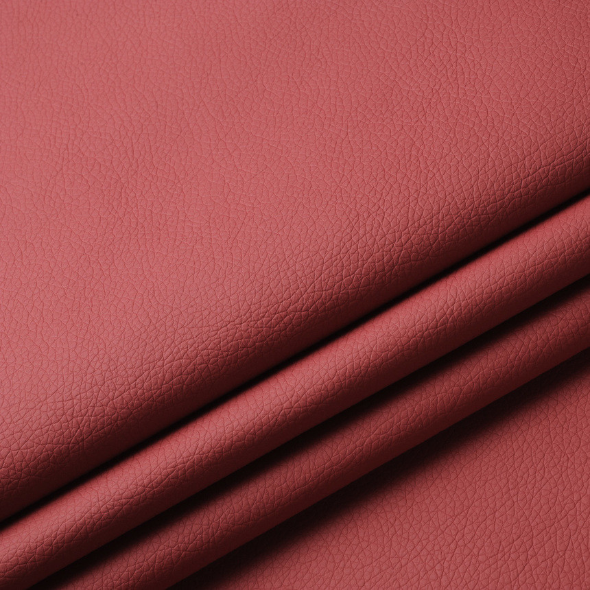 Кожзаменитель для мебели Флай красного цвета