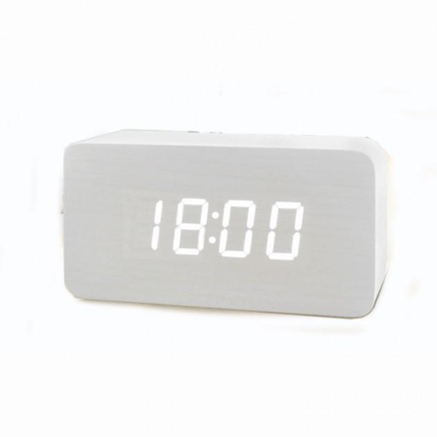 Электронные настольные часы VST 863-5 Белые