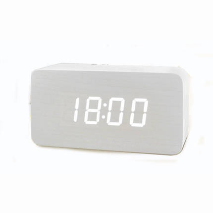 Электронные настольные часы VST 863-5 Белые, фото 2