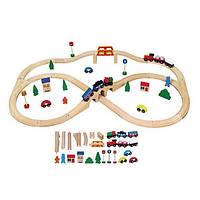 """Игрушка Viga Toys """"Железная дорога"""", 49 деталей (56304), фото 1"""