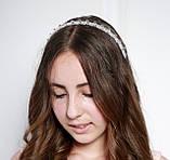 Прозрачный Обруч для волос с хрустальными бусинами, фото 2