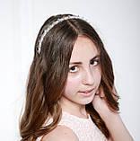 Прозрачный Обруч для волос с хрустальными бусинами, фото 3
