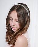 Прозрачный Обруч для волос с хрустальными бусинами, фото 4