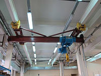 Кран-балки мостовые электрические однобалочные подвесные г/п 3,2 т пролет 15 м.