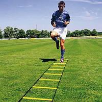 Координационная лестница, лесенка-дорожка для тренировки скорости 10м (20 перекладин, 10мx0,52мx2мм, желтый)