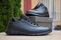 Мужские кроссовки в стиле Ecco Danish Design INTRINSIC, натуральная кожа, черные*** 40 (26 см)
