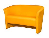 """Двухместный диван для офиса, кафе, зоны ожидания """"Лотос Клуб 2"""" желтый"""