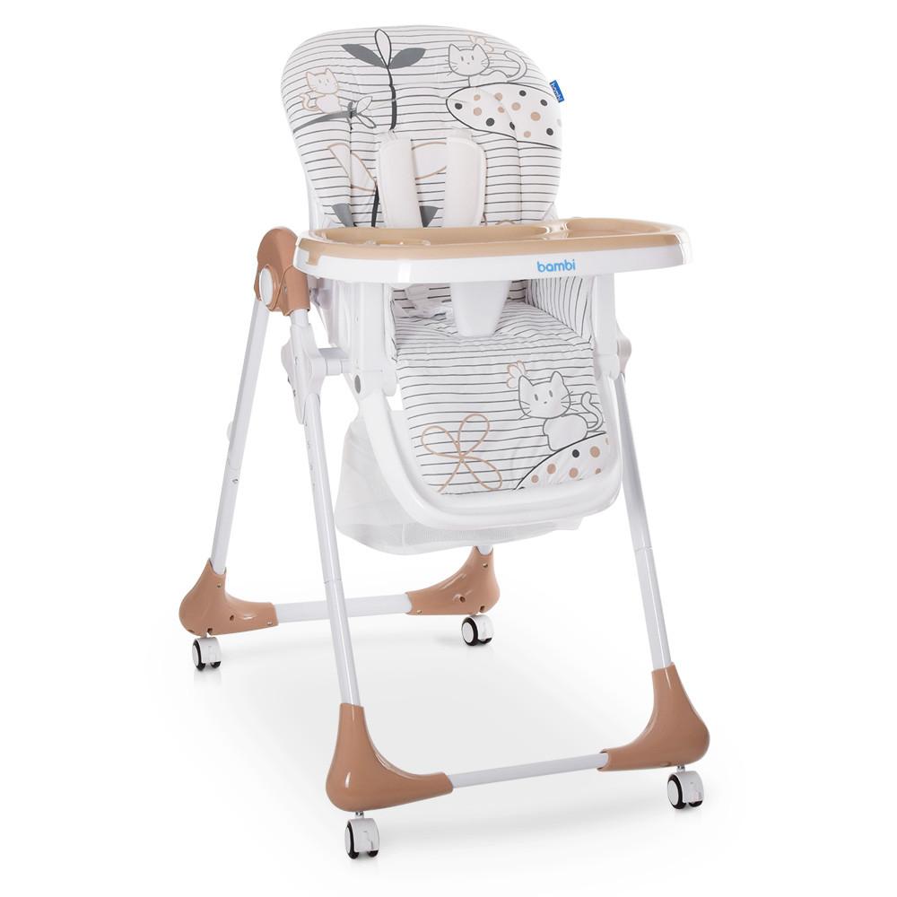 Стульчик для кормления с выдвижным столиком M 3233 Cat Toffee Гарантия качества Быстрая доставка