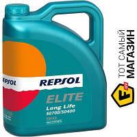 Всесезонное моторное синтетическое масло Repsol для двигателей тип бензиновый, дизельный 5w-30 4 Elite Long Life 50700/50400 5W30 4л (RP135U54)