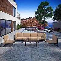 Комплект уличной мебели (диван, 2 кресла, столик) в стиле LOFT (NS-970003851)