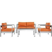 Комплект уличной мебели (диван, 2 кресла, столик) в стиле LOFT (NS-970003856)