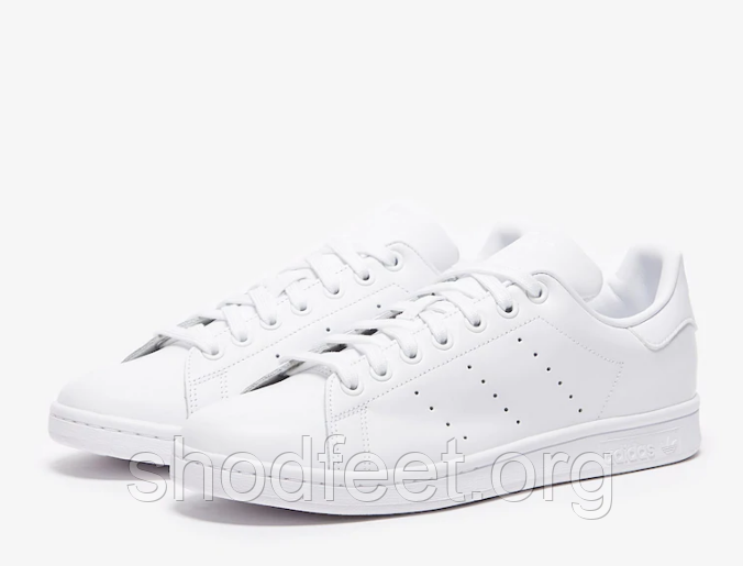 Женские кроссовки ADIDAS STAN SMITH TRAINERS TRIPLE WHITE