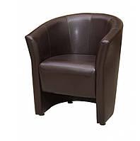"""Кресло для офиса, кафе, зоны ожидания """"Лотос Клуб 1"""" коричневый"""