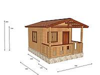 Строительство домов из профилированного бруса с верандой 3,5х5