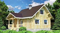 Дом деревянный из оцилиндрованного бревна 9х9 м