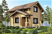 Дом из оцилиндрованного бревна 5х6 м