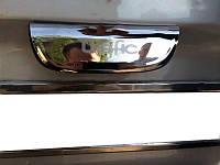 Накладка на планку багажника Renault Trafic 2001-2014 (с надписью, нерж.) 2-дверн.Carmos