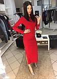 Платье женское длинное с разрезами, фото 2