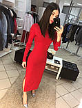 Платье женское длинное с разрезами, фото 4