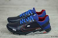Мужские кожаные кроссовки Nike (Реплика) (Код: N-5 с/эл   ) ►Размеры [40,41,42,43,44,45], фото 1