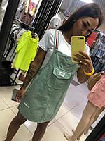 Сарафан + футболка  ментол, пудра