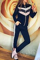 """Женский спортивный костюм на змейке """"Люрекс трехцветный змейка"""""""