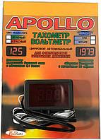 Прибор тахометр + вольтметр 12V Apollo