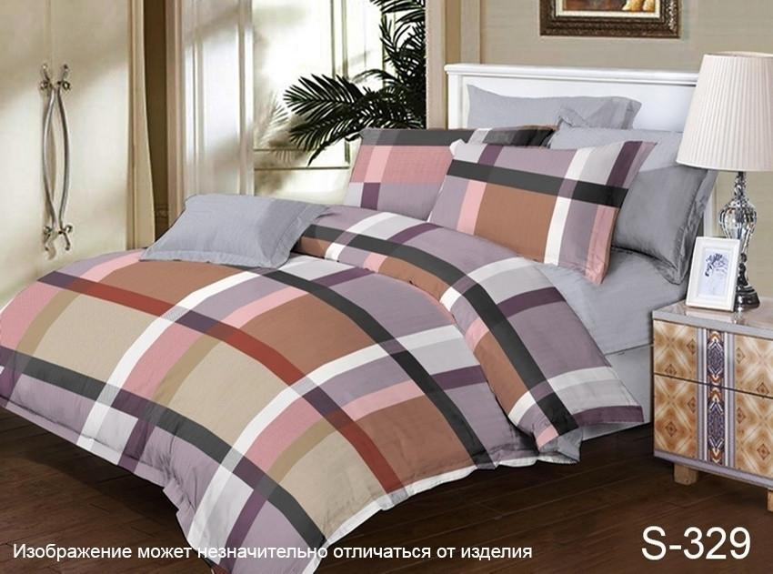 Комплект постельного белья из сатина с компаньоном S329,  разные размеры двуспальный