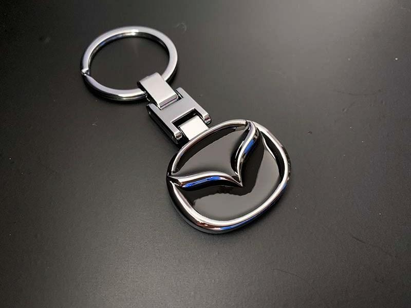 Брелок Mazda (Мазда) двухсторонний Silver