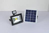 Прожектор уличный светодиодный на солнечной батарее ZJL GY-SFL-20A c датчиком движения 20w.