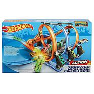 Трек Хот ВилсCorkscrew Crash Track SetHot Wheels Оригинал от Mattel, фото 2