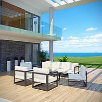 Комплект уличной мебели (диван, 4 кресла, столик) в стиле LOFT (NS-970003843)