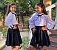 """Детская стильная юбка 614 """"Мадонна Клёш"""" в школьных расцветках, фото 9"""