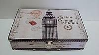 Шкатулка деревянная London размер 25*17*6