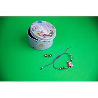 Браслет с кулоном Единорог в комплекте с серьгами-гвоздиками E&D 9736ED фиолетовый