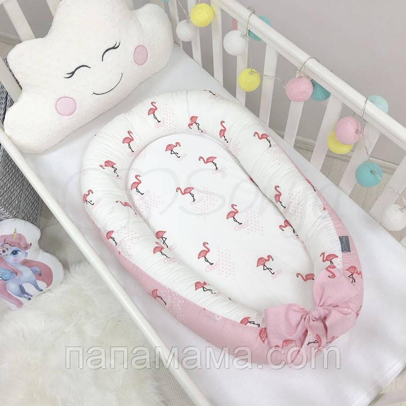 Кокон Позиционер, Baby Design Premium Фламинго