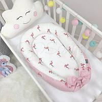 Кокон Позиционер, Baby Design Premium Фламинго, фото 1