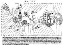 Запчасти компрессора СБ4/Ф-500.W115