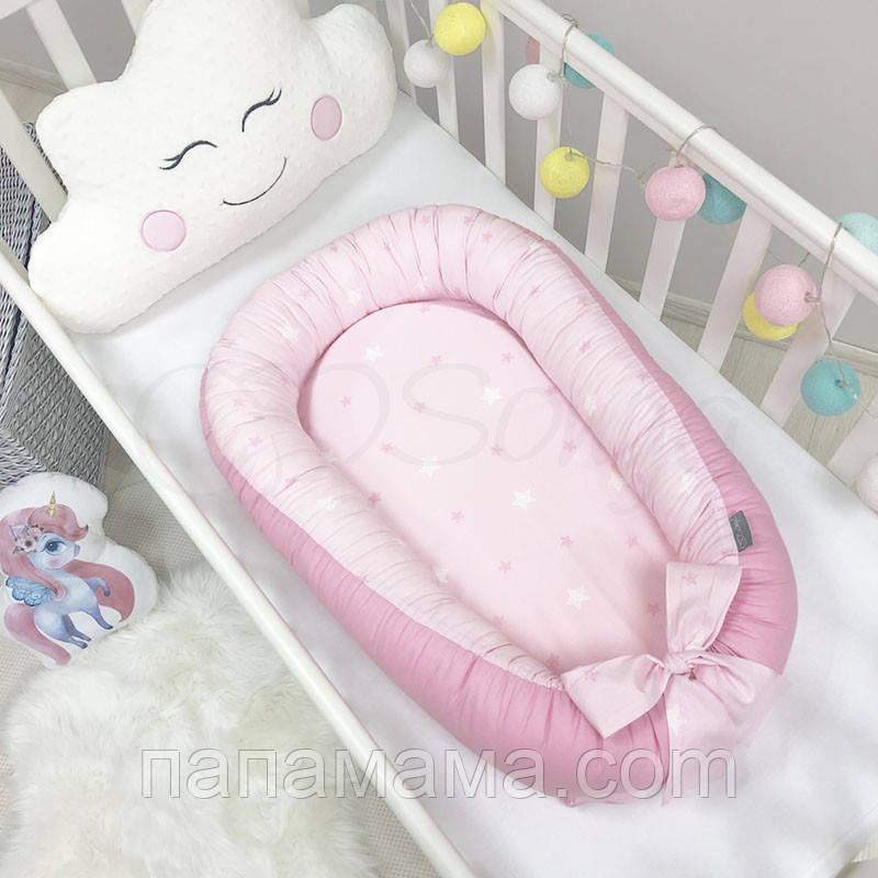 Кокон Позиционер, Baby Design Звезды на розовом
