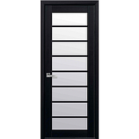 Дверь межкомнатная Виола венге dewild 700 мм со стеклом сатин (матовое), Экошпон.