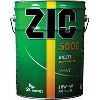 Полусинтетическое моторное масло ZIC(Зик) 5000 Diesel 10w-40 20л.