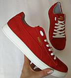 Puma classic ! Стильные кроссовки кеды женские из красной натуральной кожи в стиле пума !, фото 6