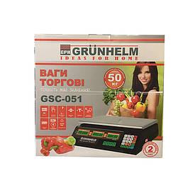 Весы торговые Grunhelm GSC-051 (50 кг, черные)