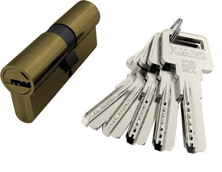 Циліндр Fuaro R600 ключ-ключ 60 мм (в асортименті)