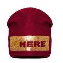 Детская шапка для девочки BARBARAS Польша WV40 / 0B Красный весенняя осенняя демисезонная