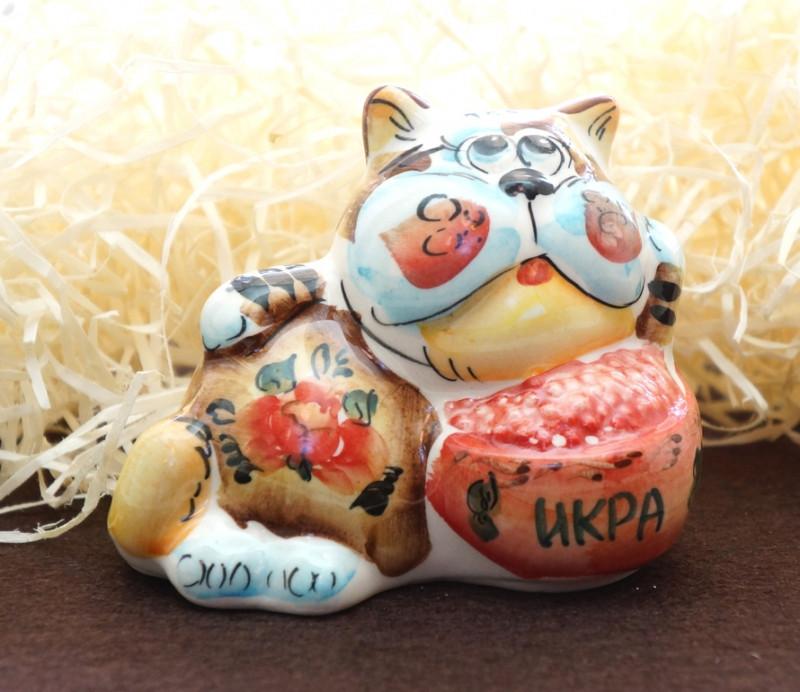 9380357 Фигурка керамическая Кіт ікра (колір)