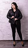 Женская куртка косуха в батальных размерах vN519, фото 2