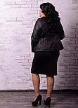 Женская куртка косуха в батальных размерах vN519, фото 3